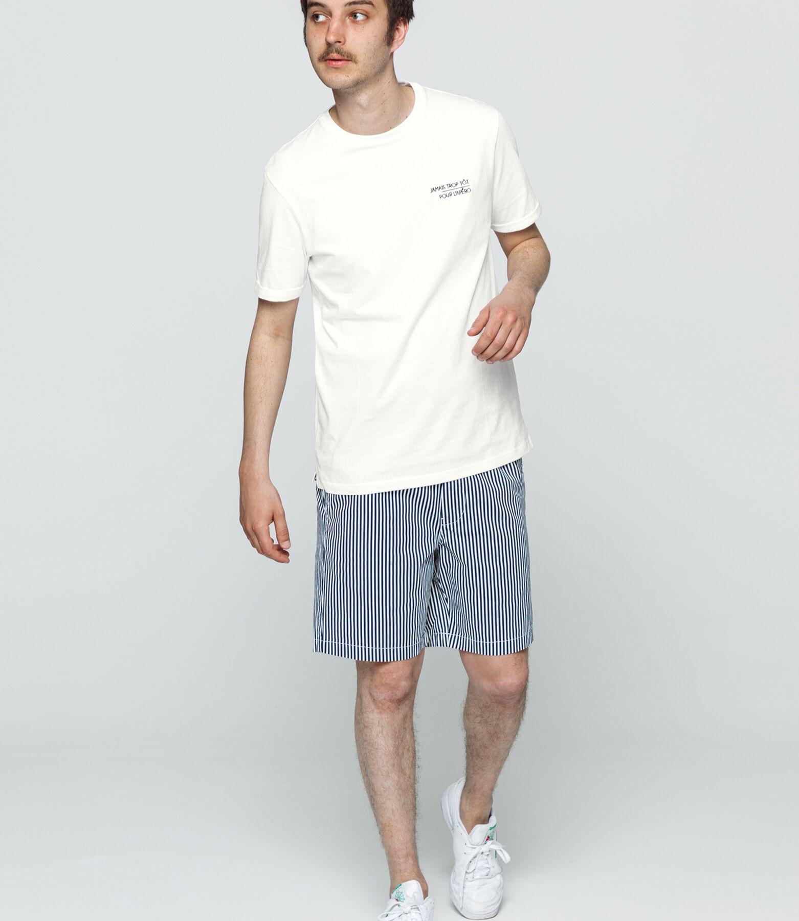 """T-shirt brodé """"Jamais trop tôt pour l'apéro"""""""