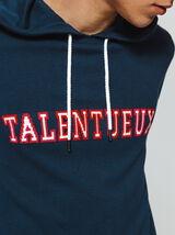 """Pull jacquard imprimé """"Talentueux"""""""