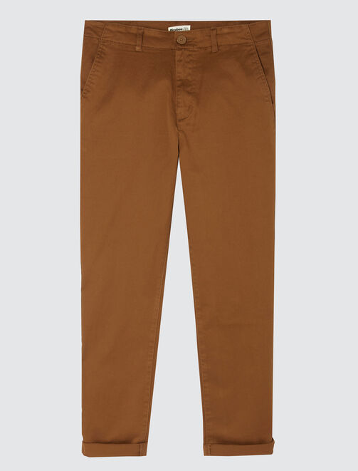 Pantalon chino en coton large homme