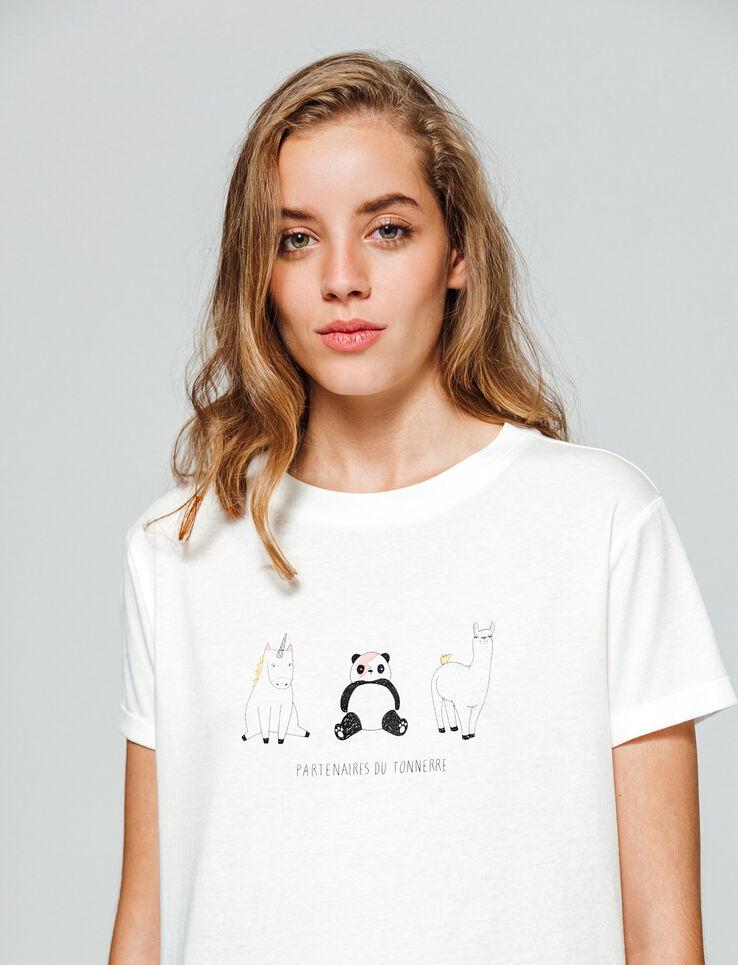 """T-shirt à message """"PARTENAIRES DU TONNERRE"""""""