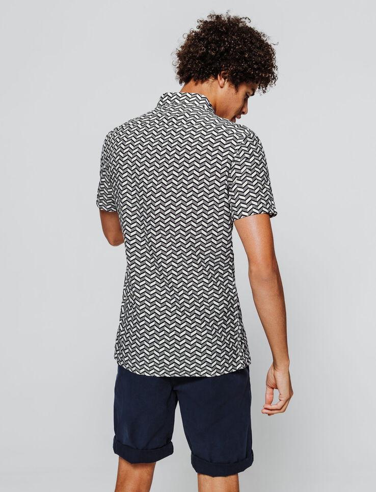 Chemise manches courtes imprimée géométrique