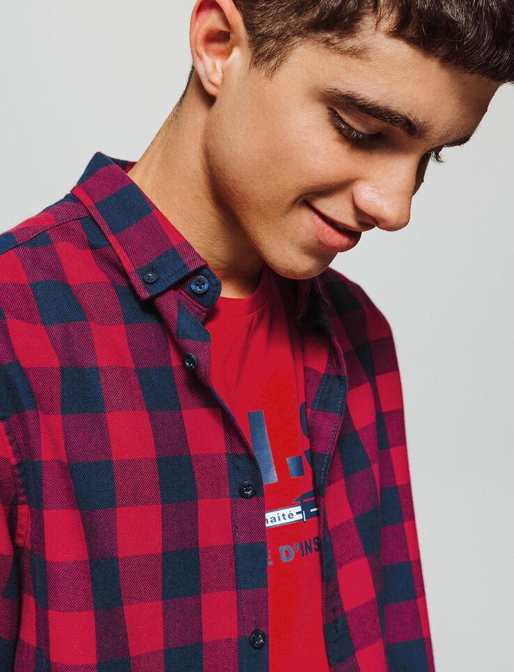 Chemise à carreaux vichy