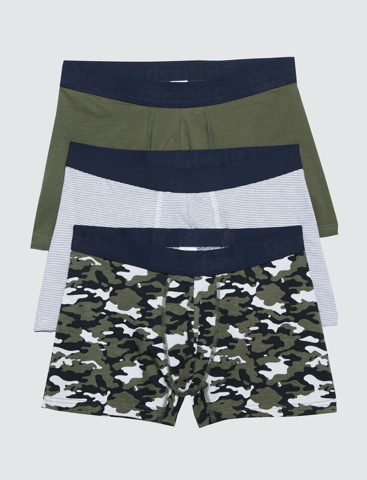 Lot 3 boxers camouflage