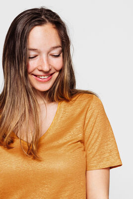 T-shirt en lin col V