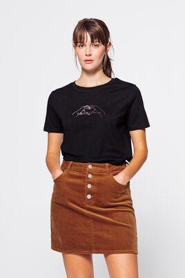 T-shirt brodé en coton IAB