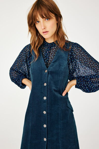 Robe Chasuble Velours Coton Bio