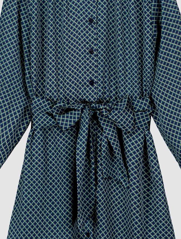 Robe Satin Imprimée Polyester Recyclé