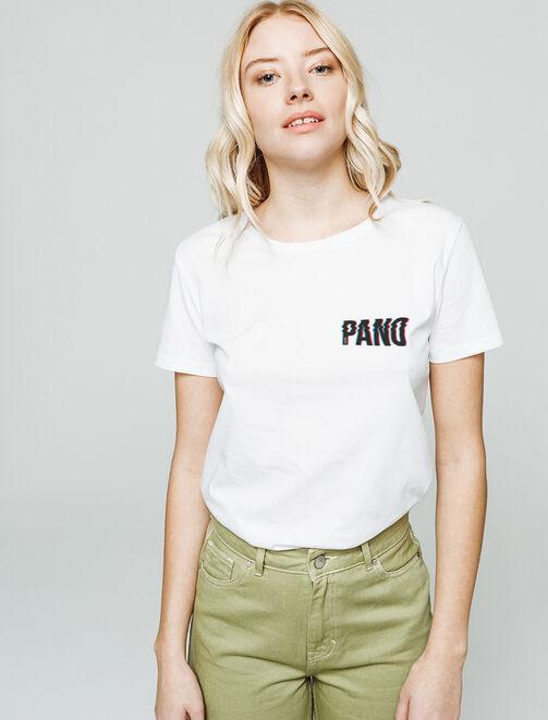 T-shirt imprimé poitrine PANO femme