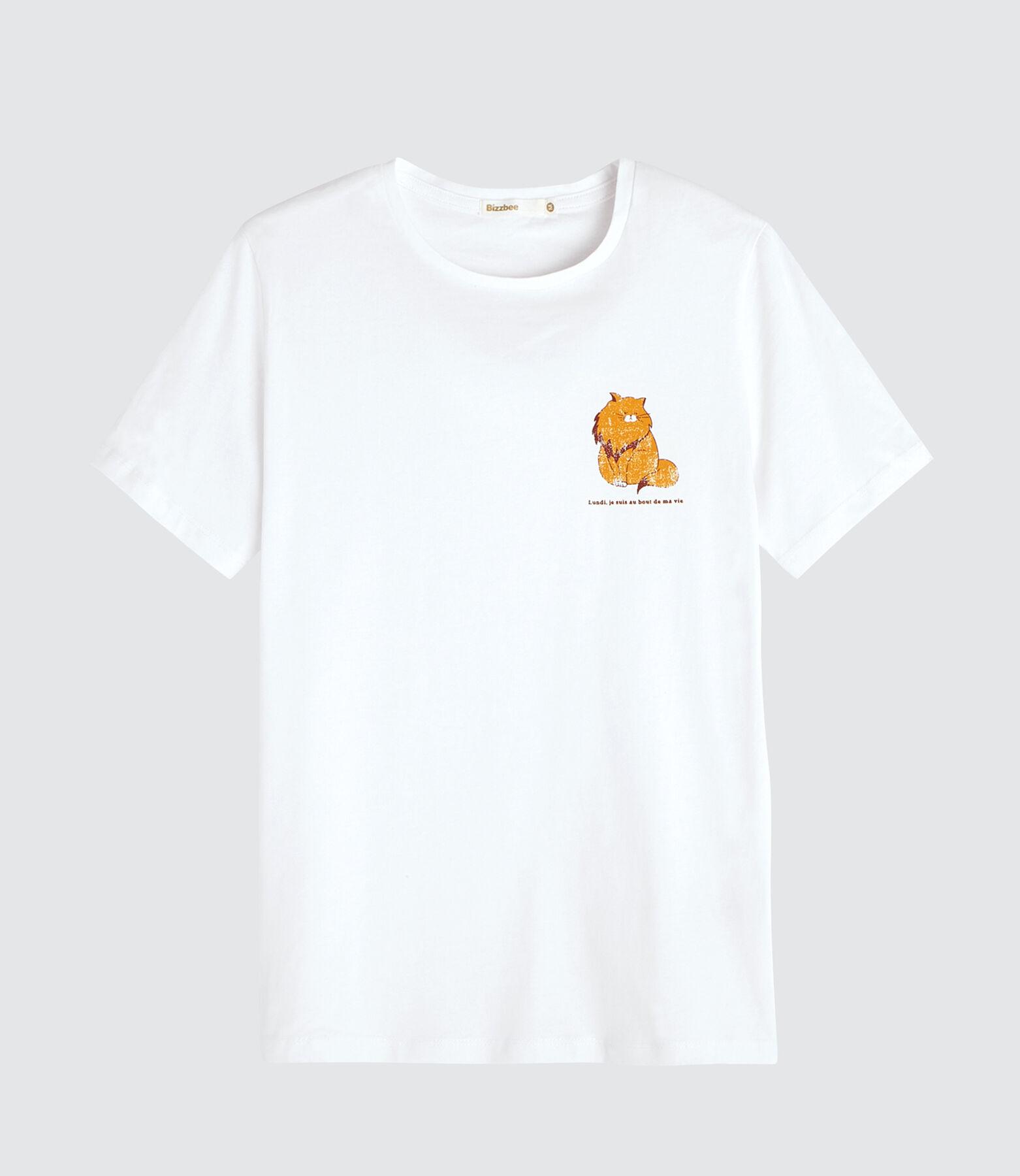 T-shirt fantaisie imprimé placé