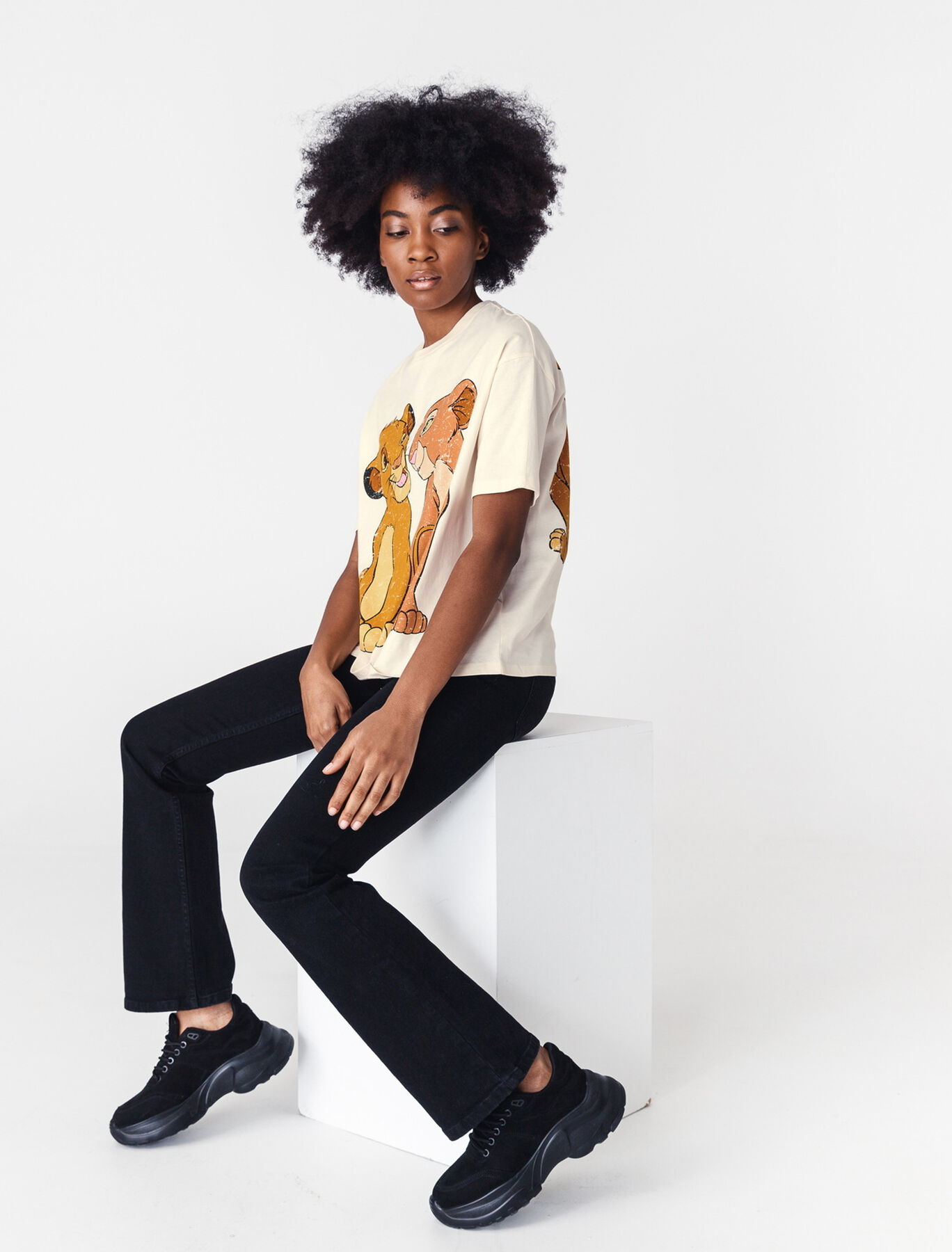 "T-shirt licence ""ROI LION"" coton bio"