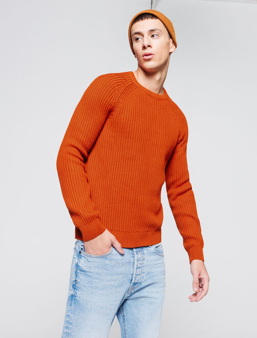 Pull grosse maille homme