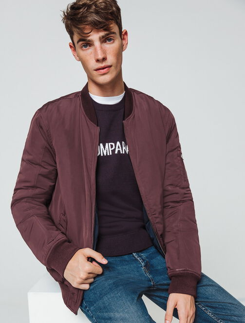 bombers reversible quilté  homme