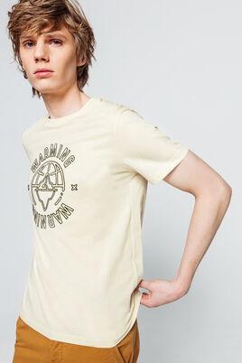 T-shirt avec broderie en 100% coton issu de l'agri