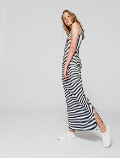 Robe longue marinière  femme