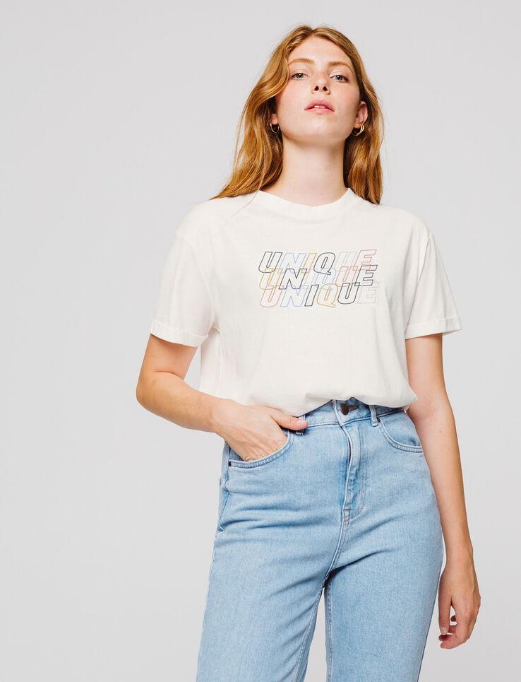 """T-shirt message """"UNIQUE"""""""