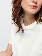 """T-shirt à message fluo """" hier je n'ai rien fait"""""""