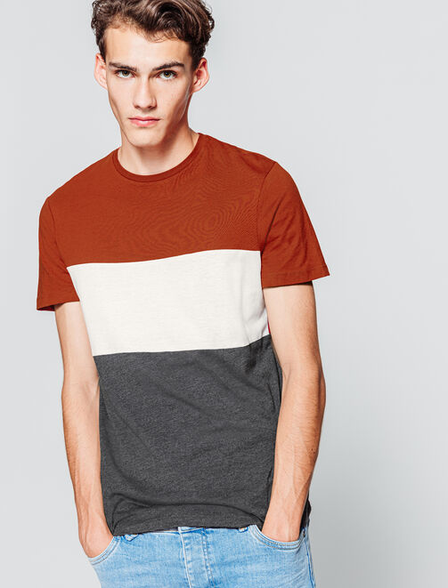 T-shirt color-block homme