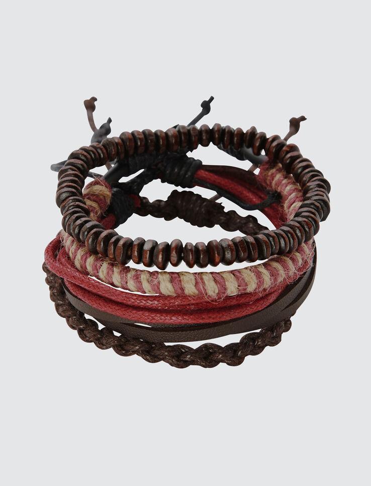 Set de Bracelets Marron et Bordeau