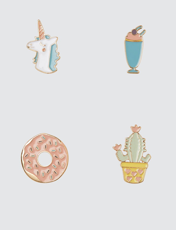 Set de 4 Pins fantaisie