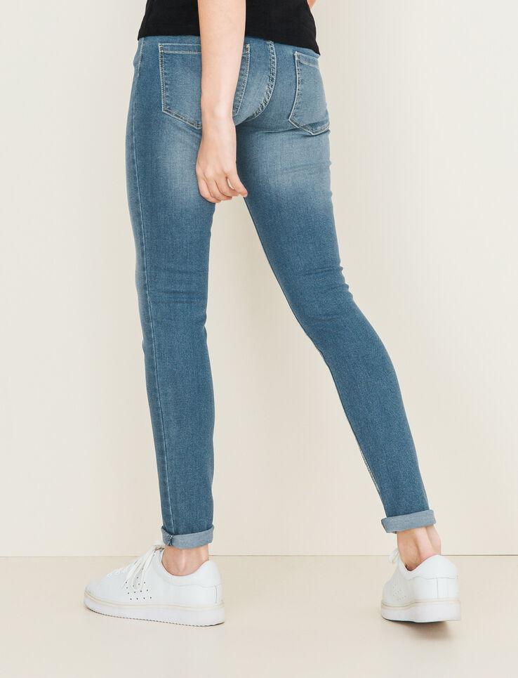 jeans skinny taille standard femme stone clair bizzbee. Black Bedroom Furniture Sets. Home Design Ideas