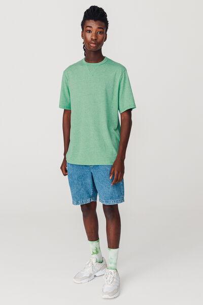 T-shirt basique matière fantaisie