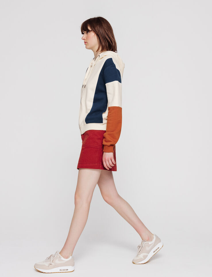 Sweat zippé colorblock