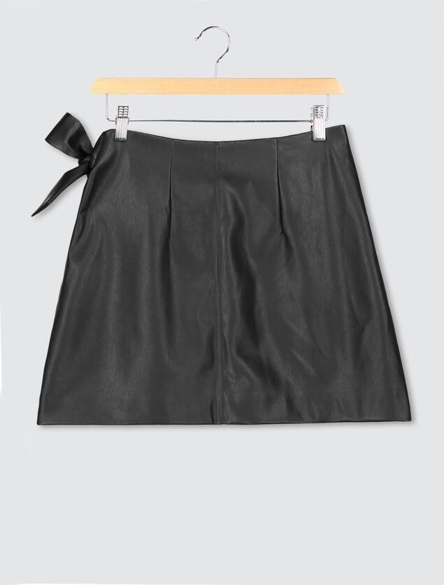Jupe portefeuille simili cuir