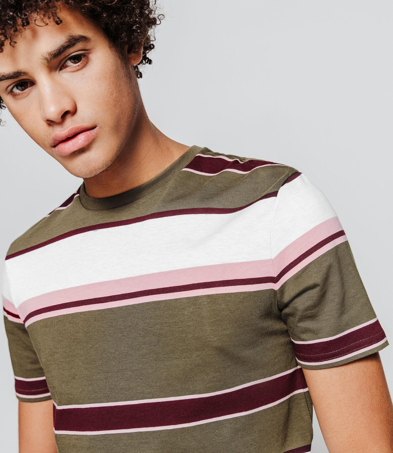 T-shirt rayures irrégulières