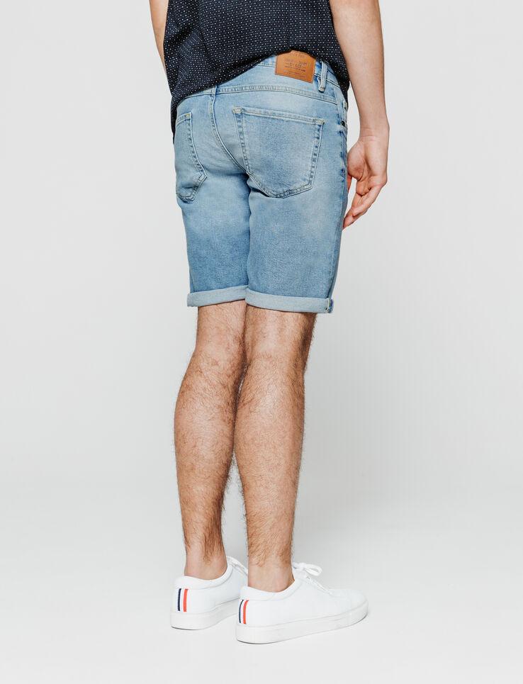 Bermuda en jean bleached.