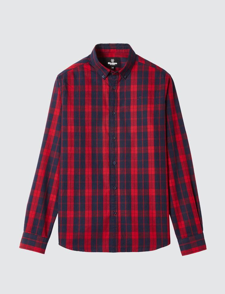 Chemise à carreaux bicolore
