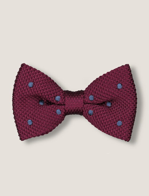Noeud Papillon tricot pois homme