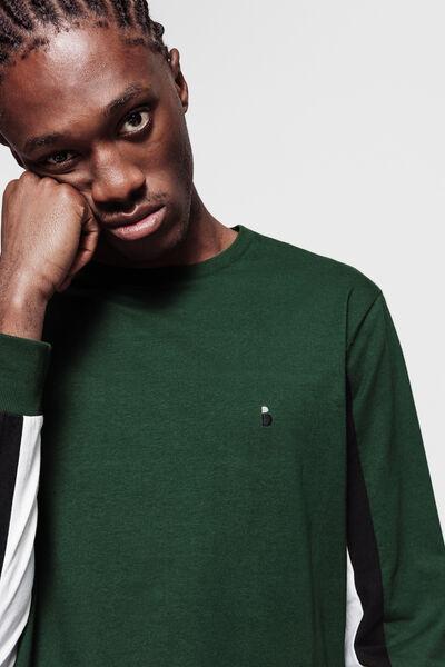 T-shirt colorblock manches longues