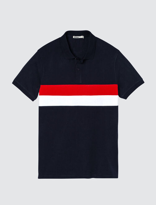 Polo colorblock homme