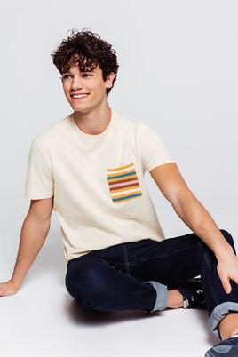 T-shirt oversized avec poche rayée