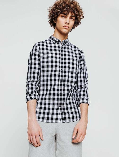 Chemise à carreaux homme
