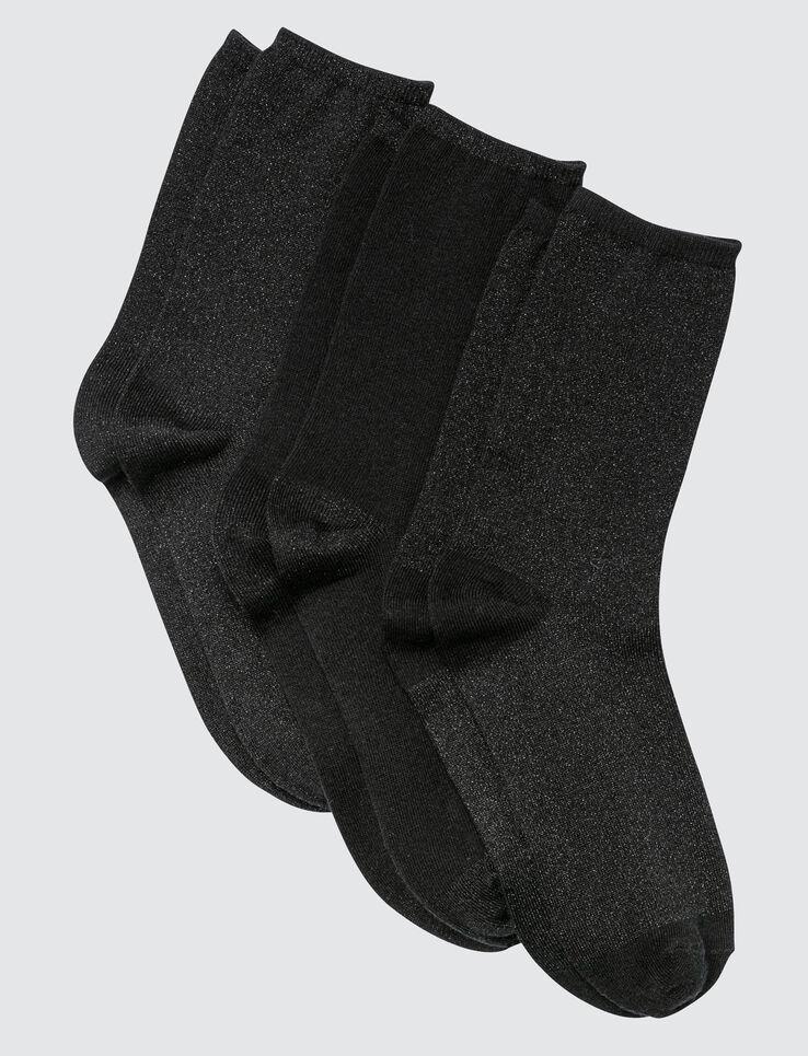 Lot de 3 Chaussettes Lurex Noir