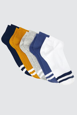Lot*5 Socquettes Rayures Sport