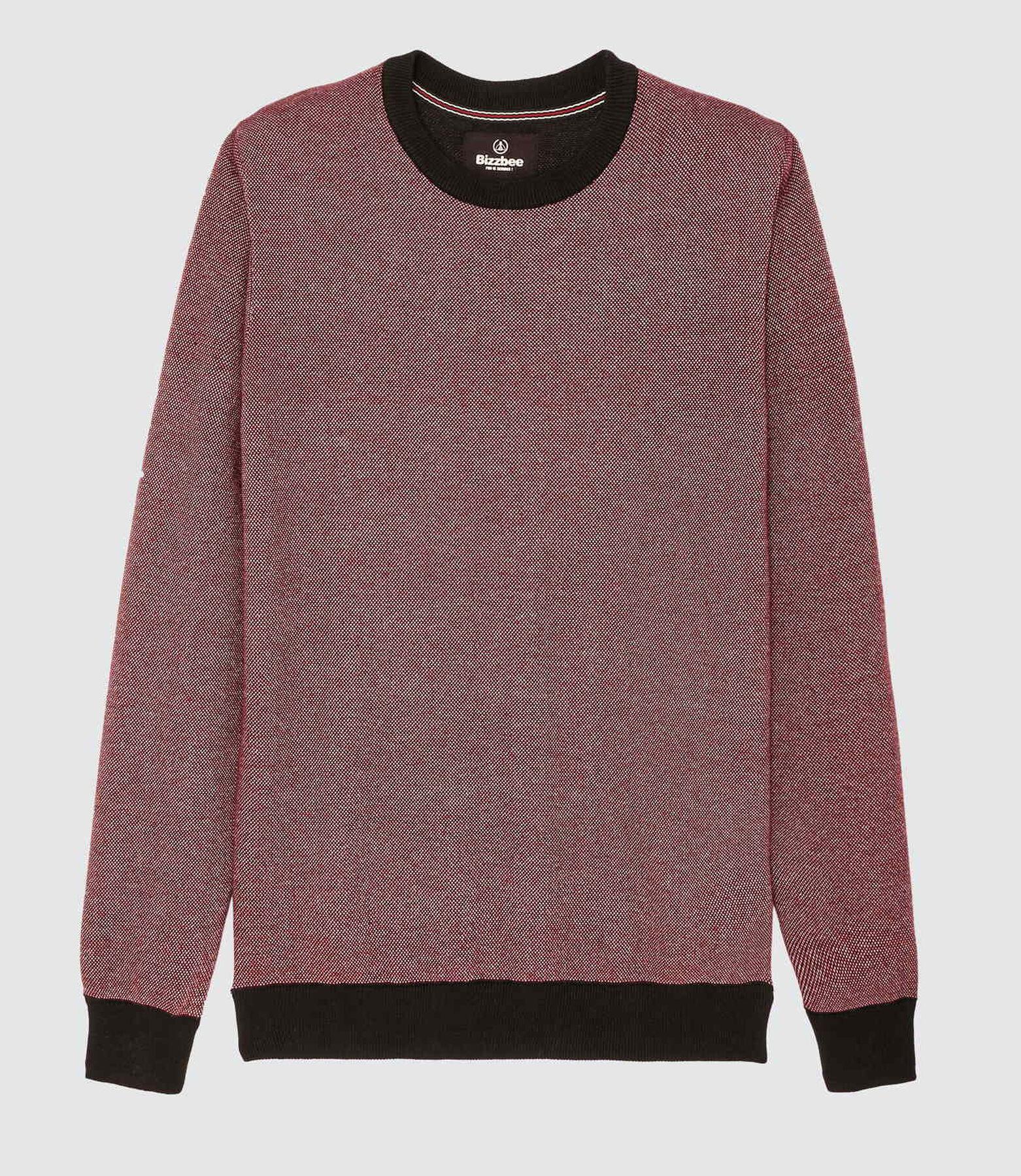 Pull au tricotage fantaisie