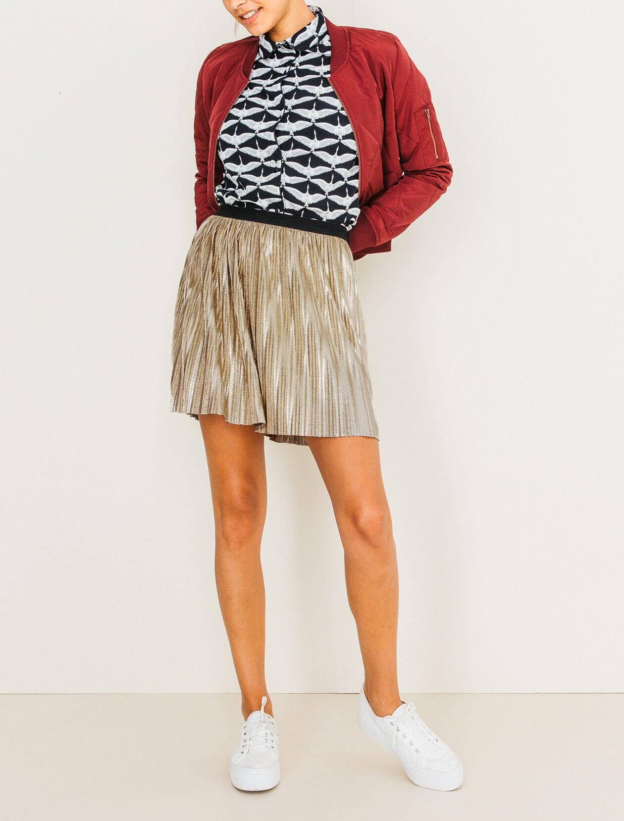 courte Jupe plissée plissée femmeBizzbee Jupe métallisée métallisée courte femmeBizzbee b76gmfyIvY