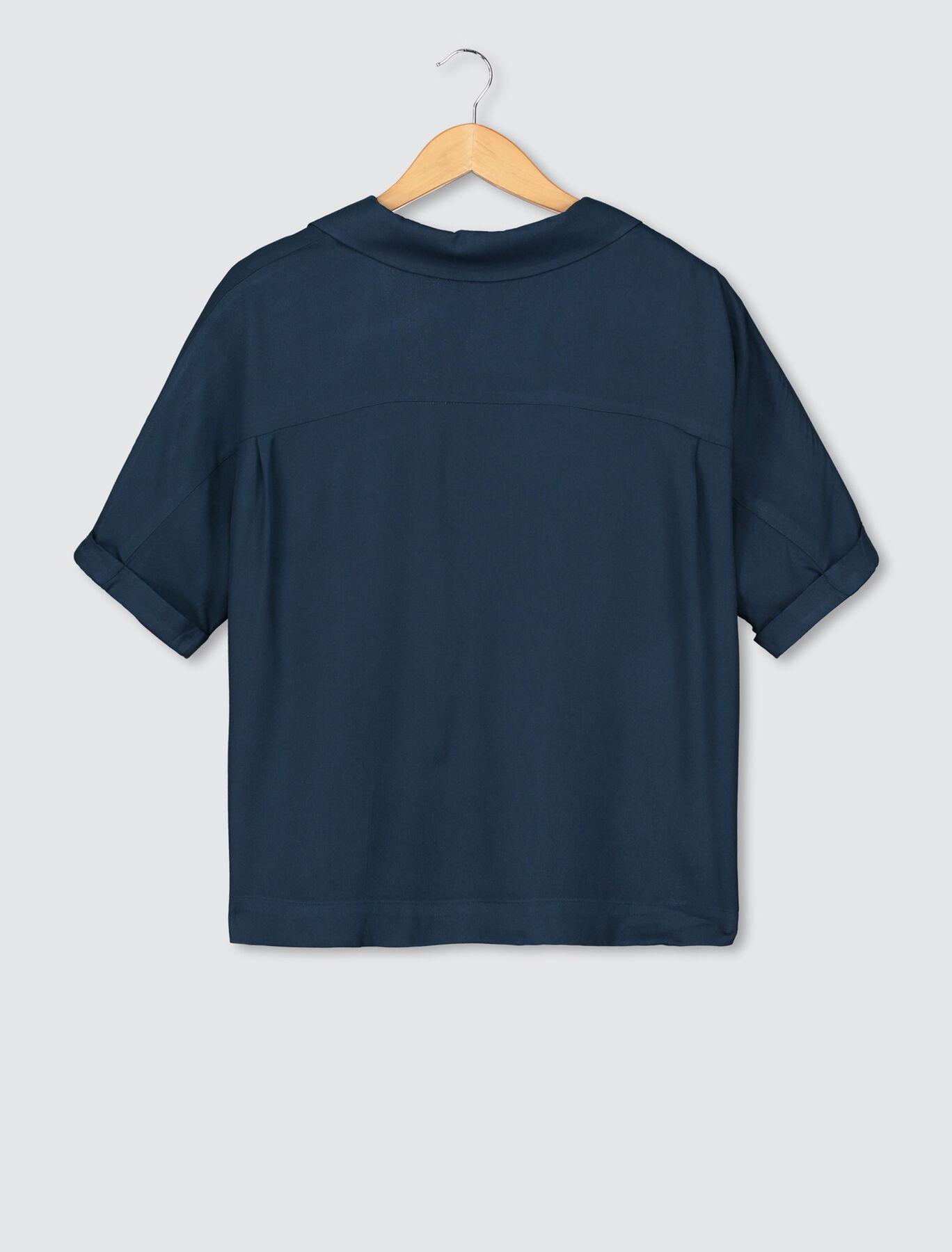 Chemise Unie Boutons Bijoux