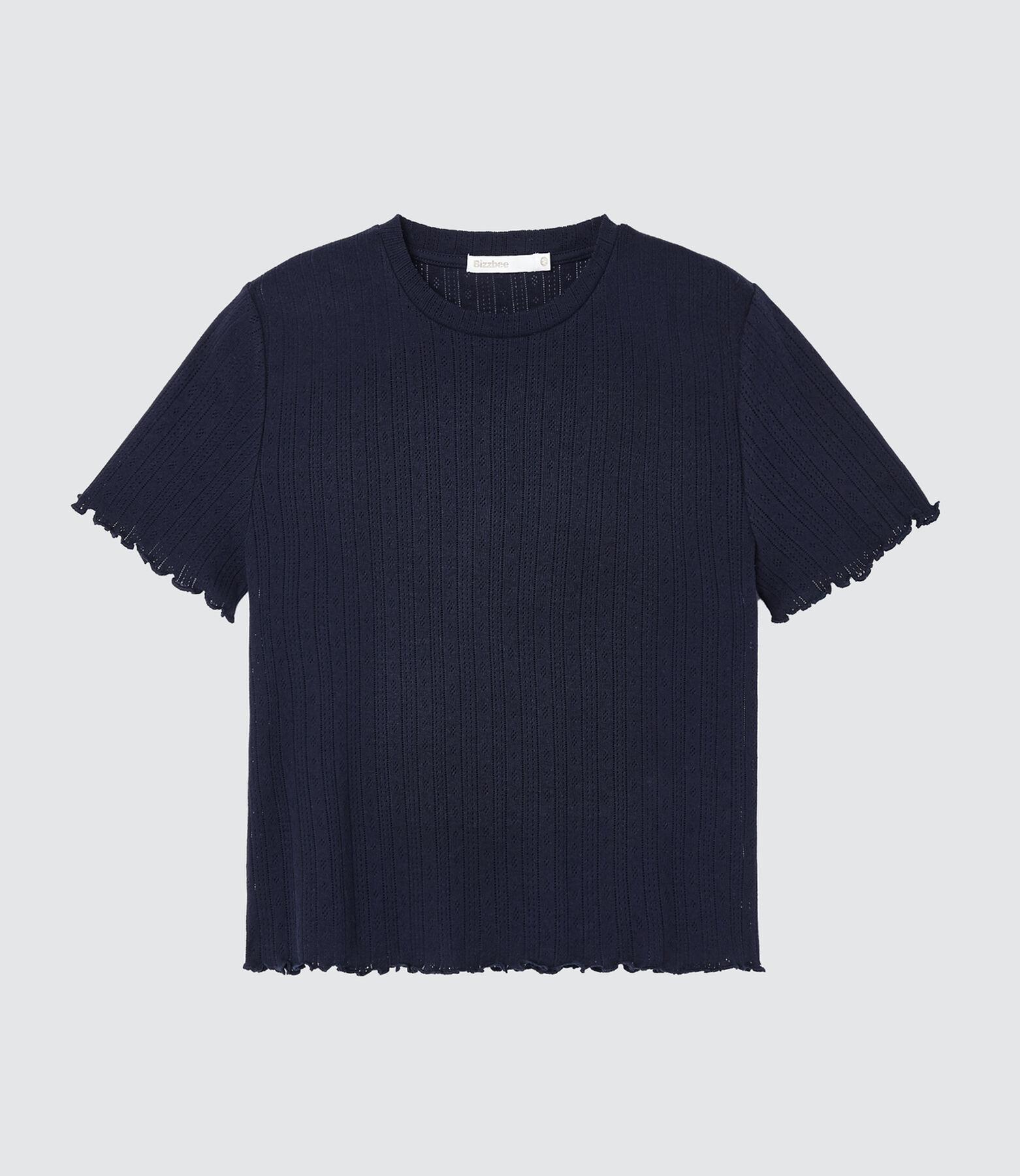 T-shirt ajouré en coton IAB