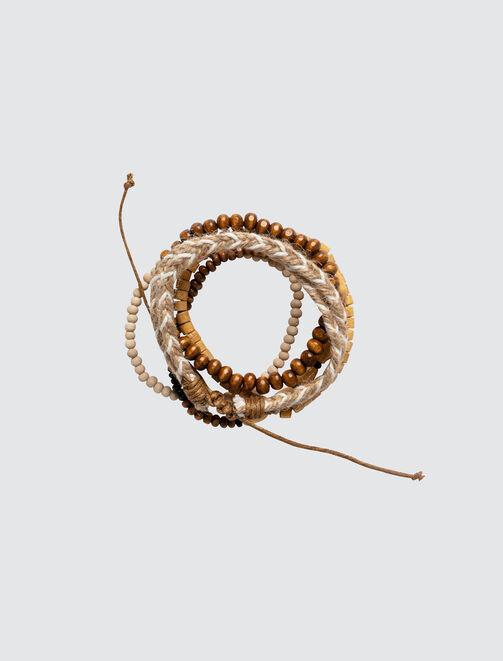 Set de Bracelets Marron  homme