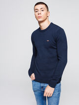 Pull col rond en laine