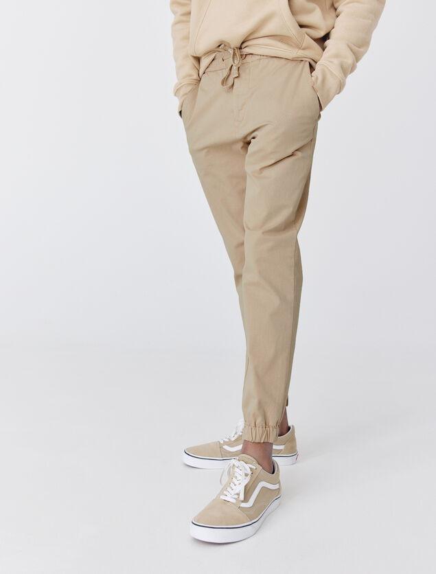 Pantalon Jogger unis en coton bio