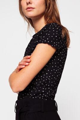 T-shirt à pois tachiste