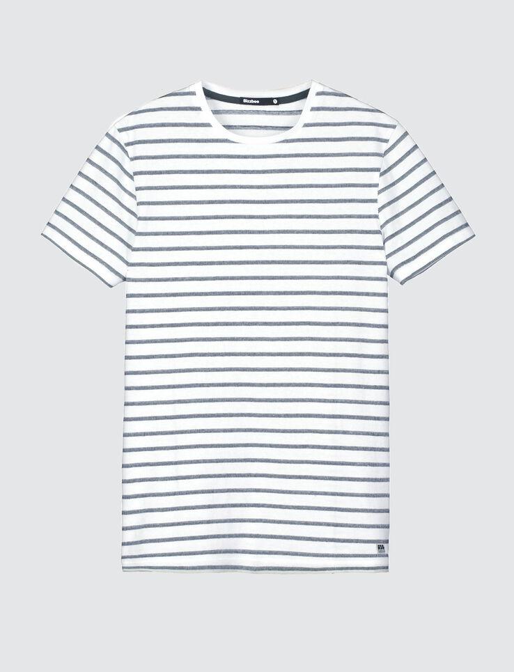 T-shirt jacquard rayé