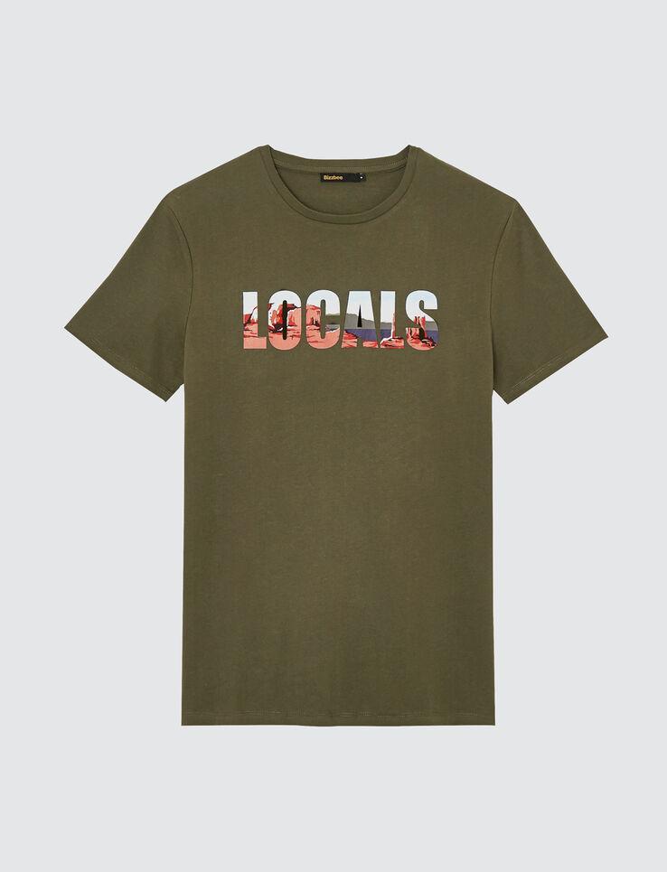 "T-shirt à message photoprint placé ""LOCALS"""