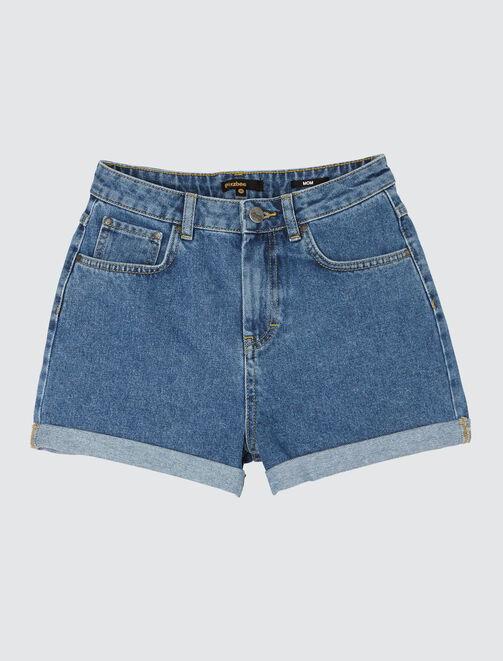 e5e43a2ae20c4 Short en jean taille haute femme