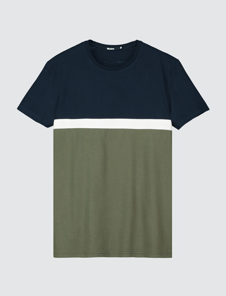 T-shirt colorblock bande twill