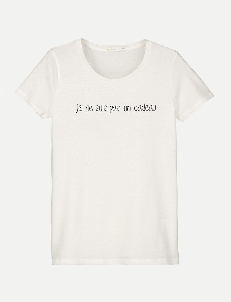 """T-shirt message""""Je ne suis pas un cadeau"""""""